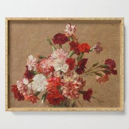Henri Fantin Latour - Carnations Without Vase Serving Tray
