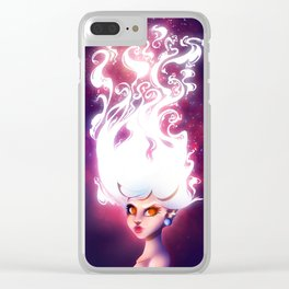 White Hair Clear iPhone Case