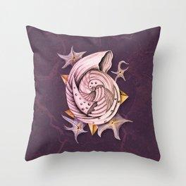 Dystopian Conch - Lavender Throw Pillow