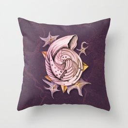 Dystopian Conch - Lavender Throw Pillow