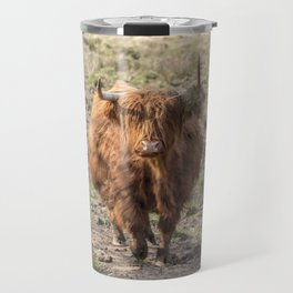 Scottish Highland cow Travel Mug