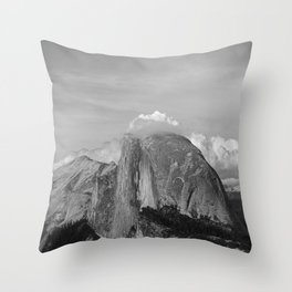 Half Dome in Black and White Throw Pillow