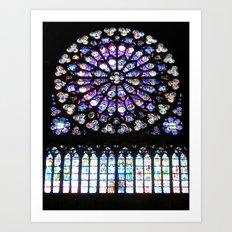 Window of Notre Dame. Art Print