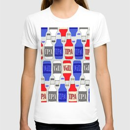 red white and blue IPA beer pattern T-shirt