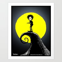 tim burton Art Prints featuring Tim Burton by David Hurley