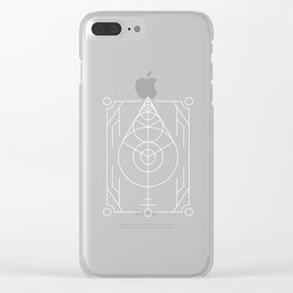 The Leaf Sacred Geometry Clear iPhone Case
