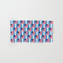 Mix of flag: Usa and Guatemala Hand & Bath Towel