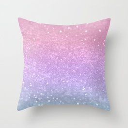 Unicorn Princess Glitter #1 (Photography) #pastel #decor #art #society6 Throw Pillow