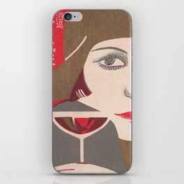 Flapper and Wine iPhone Skin