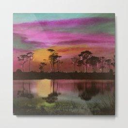 Florida Everglades, Twilight by E.G. Barnhill Metal Print