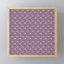 Figgy Plum Pudding Christmas Dessert Purple Repeat Framed Mini Art Print