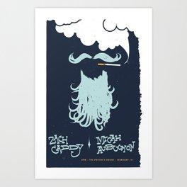Zach Caddy Gig Poster Art Print