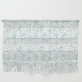 Floral Freeze White Wall Hanging