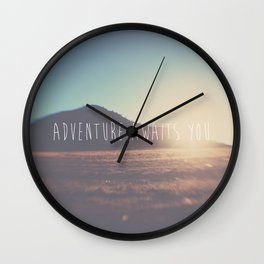 adventure awaits you ... Wall Clock