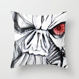 Futuristic Cyborg 7 Throw Pillow