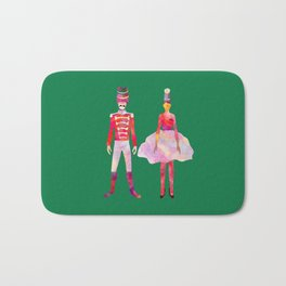 Nutcracker Ballet - Candy Cane Green Bath Mat