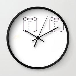 Social Distance Graduating Class of 2020 Senior Toilet Paper Wall Clock