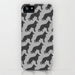 German Shepherd Dog Silhouette(s) iPhone Case