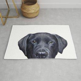 Labrador with white background Dog illustration original painting print Rug