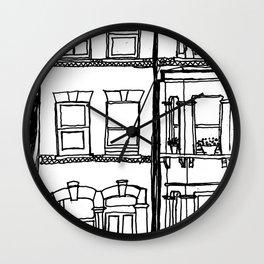 Across the road Wall Clock