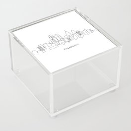 Philadelphia Skyline Drawing Acrylic Box