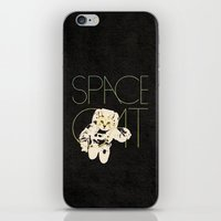 space cat iPhone & iPod Skins featuring Space Cat by Koning