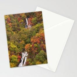 Kirifuri Falls near Nikko, Japan in autumn Stationery Cards