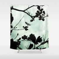 silhouette Shower Curtains featuring Silhouette  by Chelsea Merola