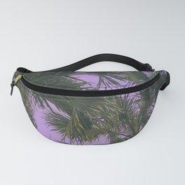 Purple Sky Palms Fanny Pack