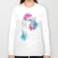 glasses Long Sleeve T-shirts featuring Glasses by Camis Gray