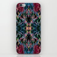 good vibes iPhone & iPod Skins featuring GOOD VIBES by Lara Gurney