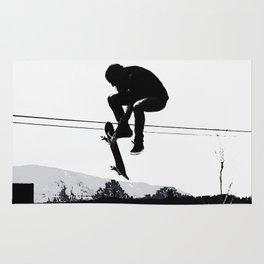 Flying High Skateboarder Rug