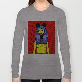 NEFER-TITTY.  (On Red). Long Sleeve T-shirt