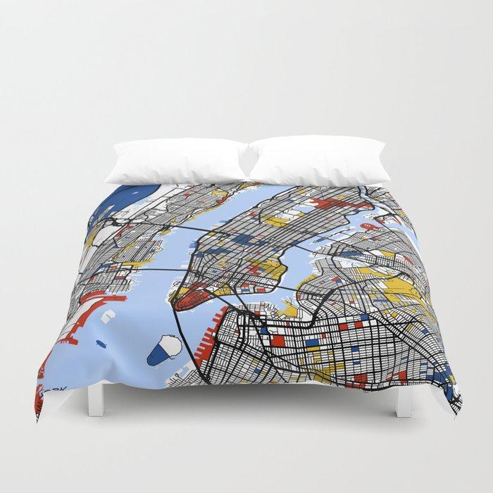 New York Mondrian Duvet Cover