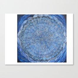 Mitochondria blue painting Canvas Print