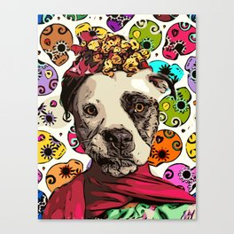 Rottweiler by Day, Frida Kahlo by Night Canvas Print