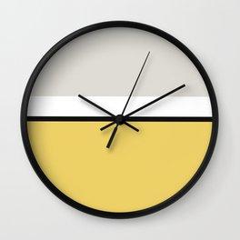 Minimal Abstract Yellow White Black 02 Wall Clock