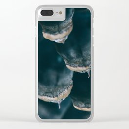California Pine Cone Macro Photography Clear iPhone Case