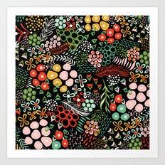 Winter Bouquet Art Print
