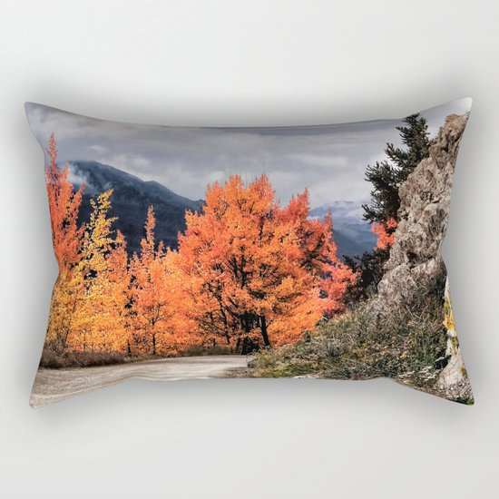 Autumn Mountain Road Rectangular Pillow