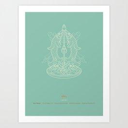 Gaur-Matsya – Pair of Golden Fish Art Print