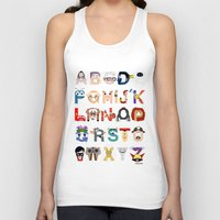 pixar Tank Tops featuring P is for Pixar (Pixar Alphabet) by Mike Boon