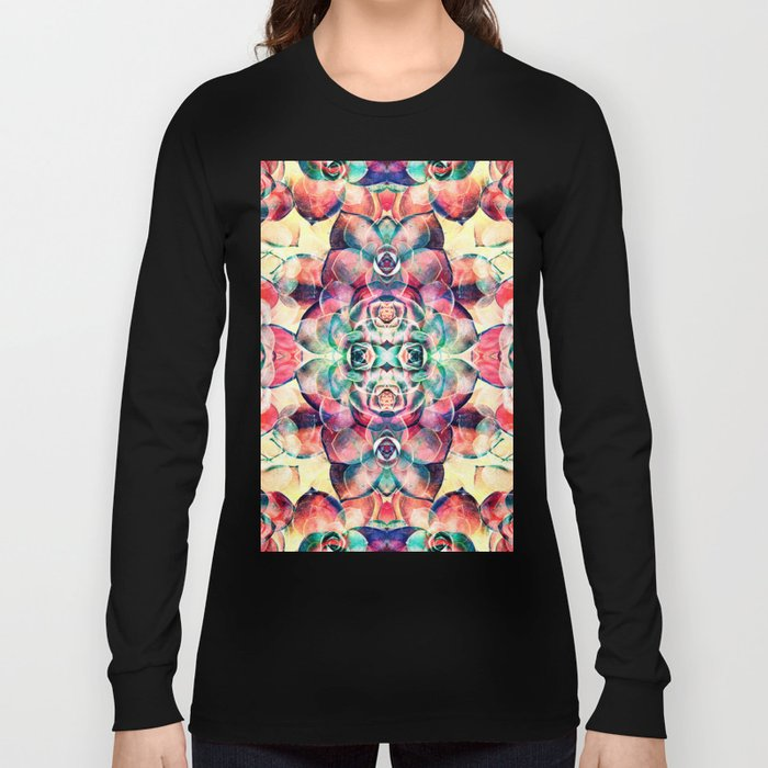 Succulents Abstract Long Sleeve T-shirt