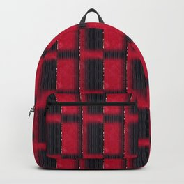 Imperial Red & Black Onyx Half Blocks with a Touch of Gold (Faux Texture) Backpack