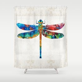 pretty dragonfly shower curtains. Colorful Dragonfly Art By Sharon Cummings Shower Curtain Curtains  Society6