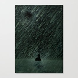 Alone in Tar Tear Lake Canvas Print