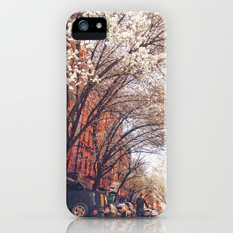 NYC Cherry Blossoms on the Lower East Side iPhone Case
