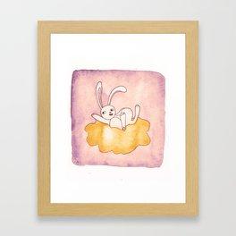 Bonjour, bunny! Framed Art Print