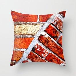 Tectonic Bricks Throw Pillow