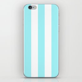 Waterspout heavenly - solid color - white vertical lines pattern iPhone Skin